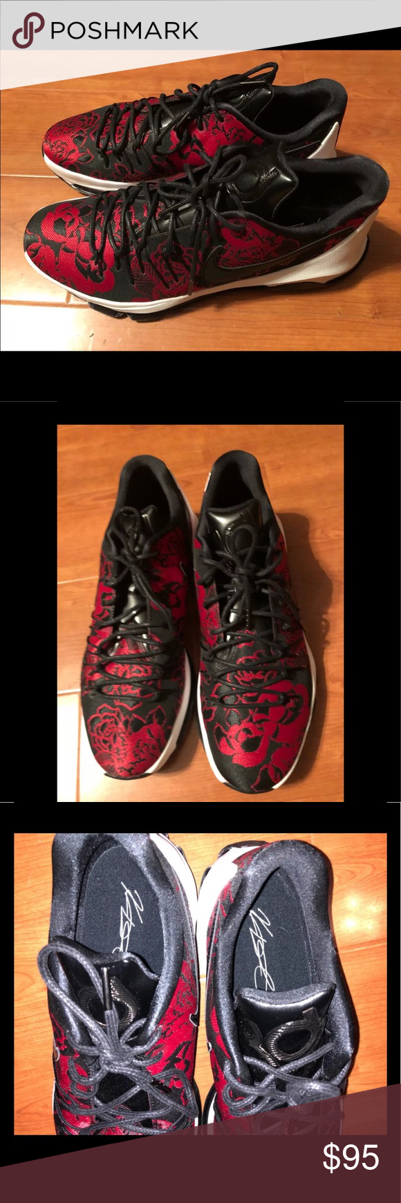 c1661487cb1e Nike KD 8 ext black and red rose sneakers Sz 13 806393-004 Brand new Nike  KD 8 EXT black and red rose Kevin Durant Nike tennis shoes Size 13 Nike  Shoes ...