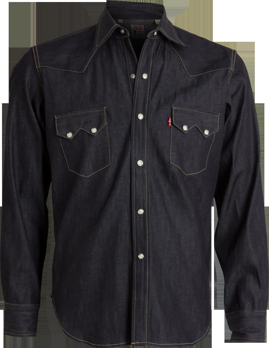 7bbb5badc7 LEVI S VINTAGE CLOTHING 1955 Sawtooth Rigid Denim Shirt  215