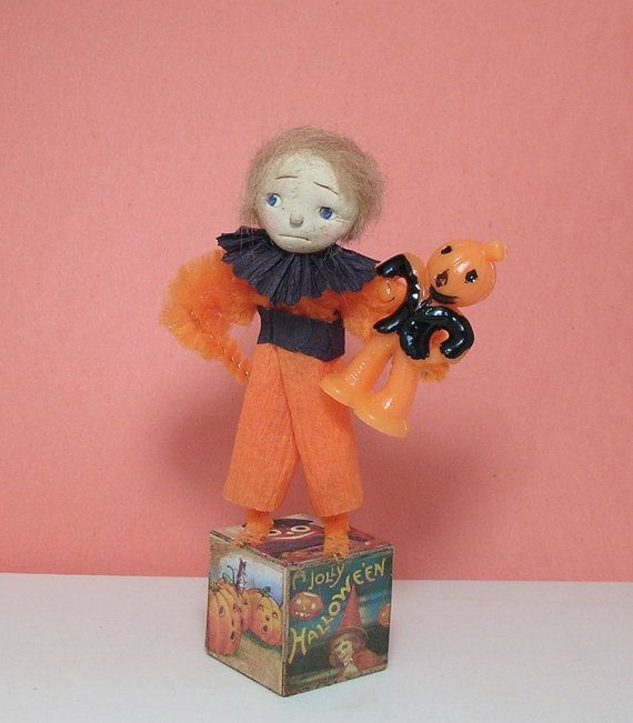 Halloween  vintage style doll decoration by Antiquememories, $14.99