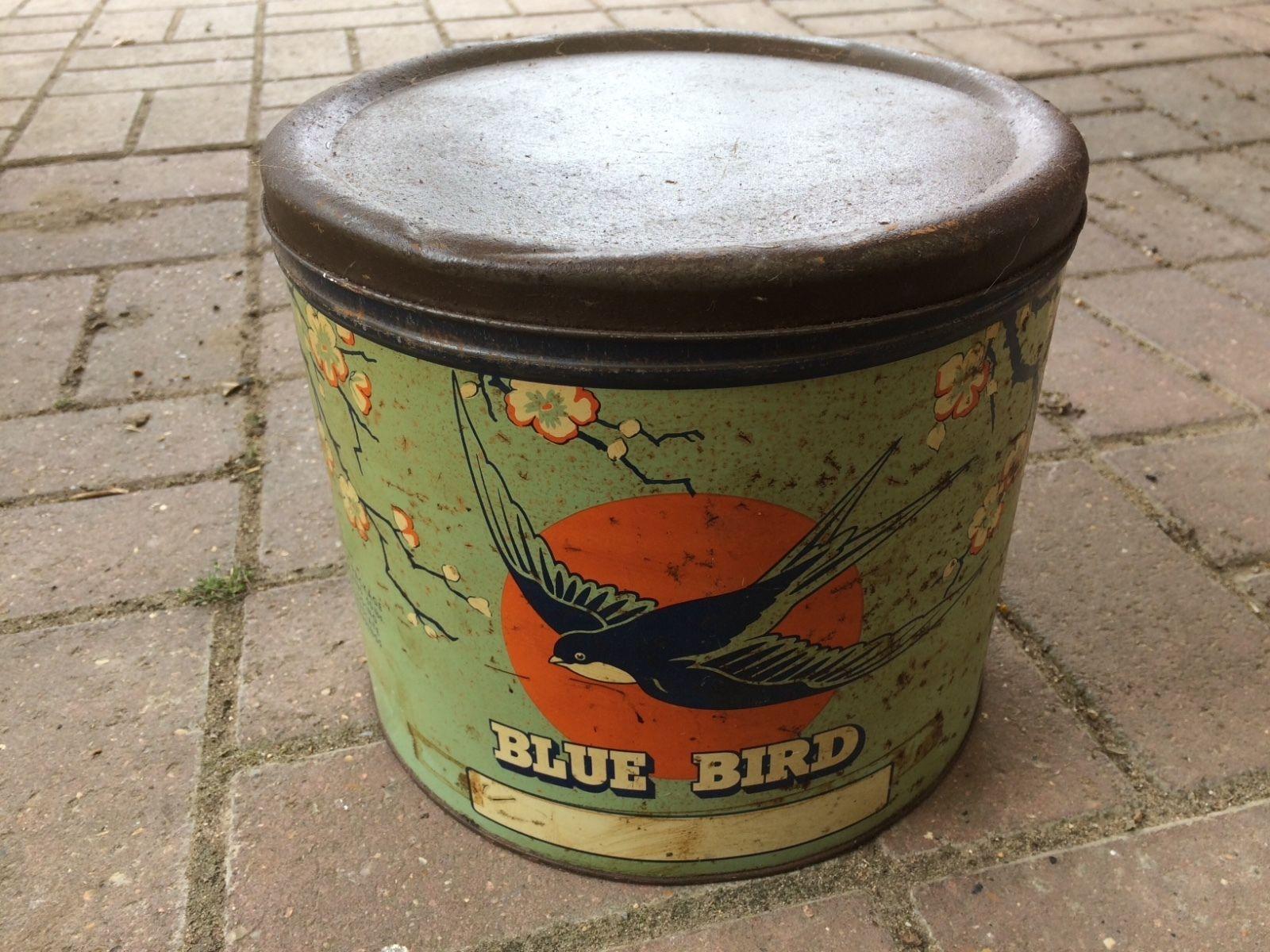 USED VINTAGE BLUEBIRD SWEET TOFFEE TIN SHOP DISPLAY | eBay