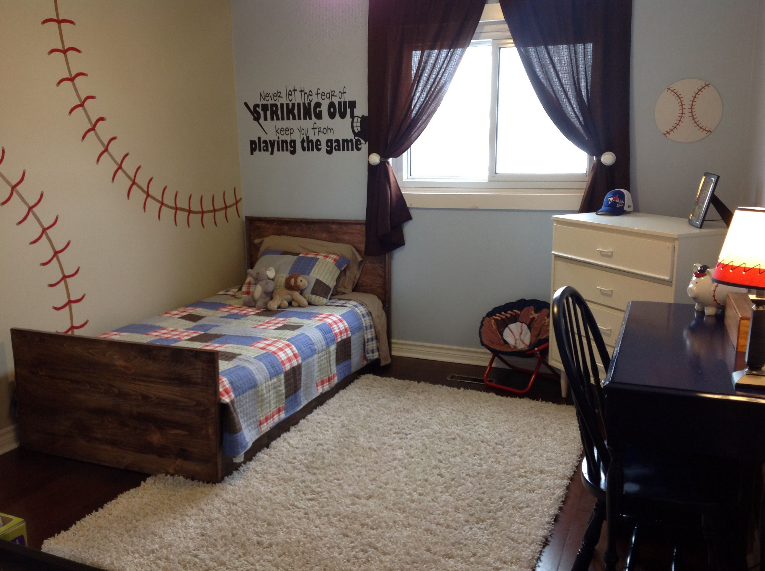 Pin By Rachael Allison Rood On For The Home Baseball Bedroom Sports Room Decor Boys Baseball Bedroom
