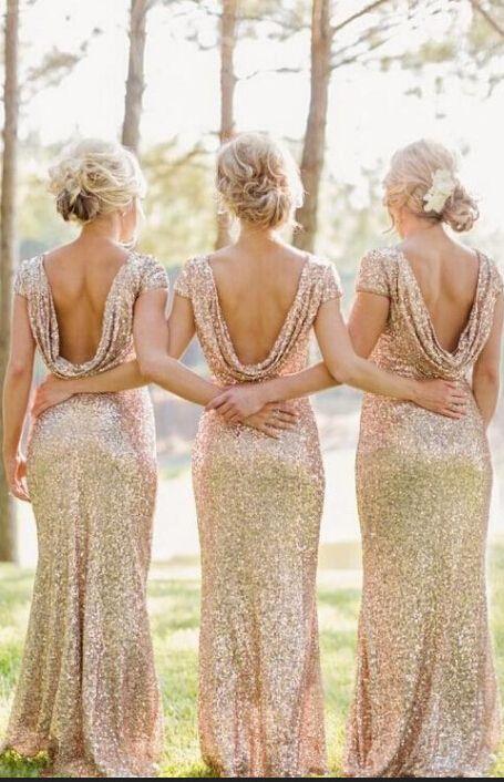 Sequin Brides Mid Dresses 2015