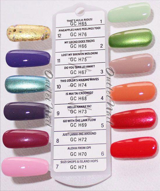 Opi Soak Off Gelcolor Hawaii Collection Spring Summer 2015 Gel Nail Polish 15ml Nail Polish Gel Color Gel Nails