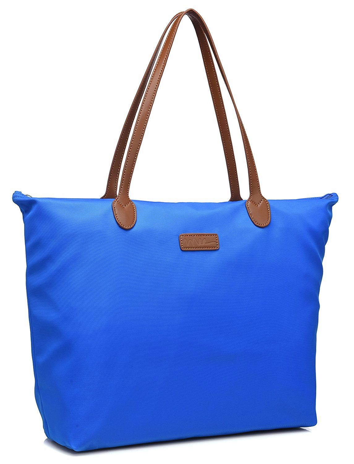 NNEE Water Resistant Light Weight Nylon Tote Bag Handbag
