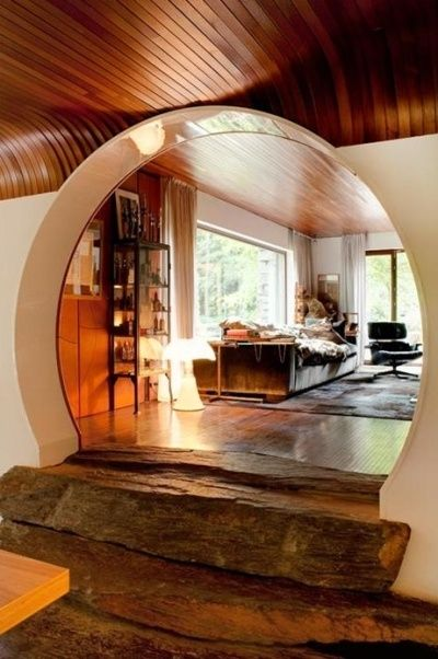 lovely interior stone stairs round doorway curved wood beam ceiling diy home decor. Black Bedroom Furniture Sets. Home Design Ideas
