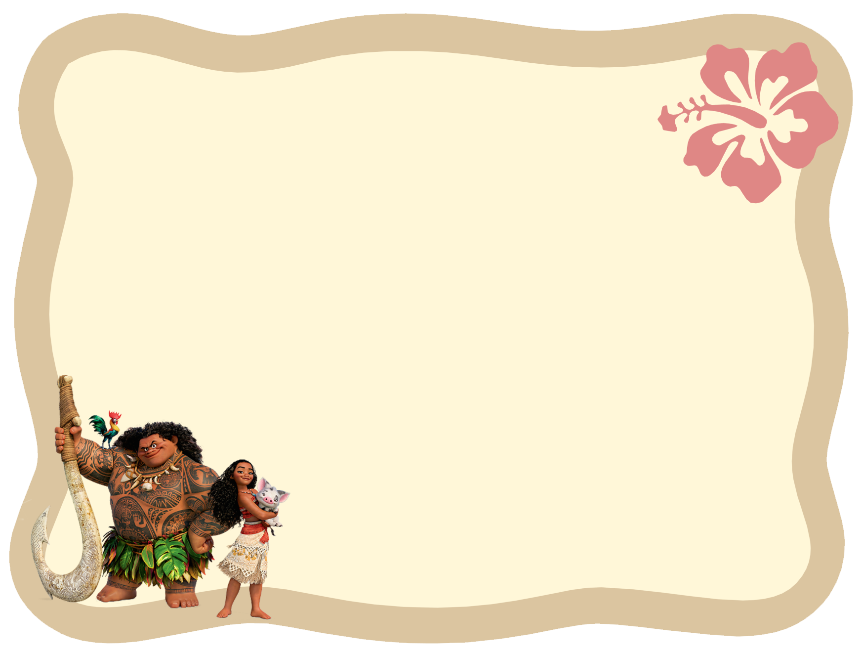 Wall Decor Stickers For Girls Film Disney Moana Vaiana Invitation 2 Png 1743 215 1323
