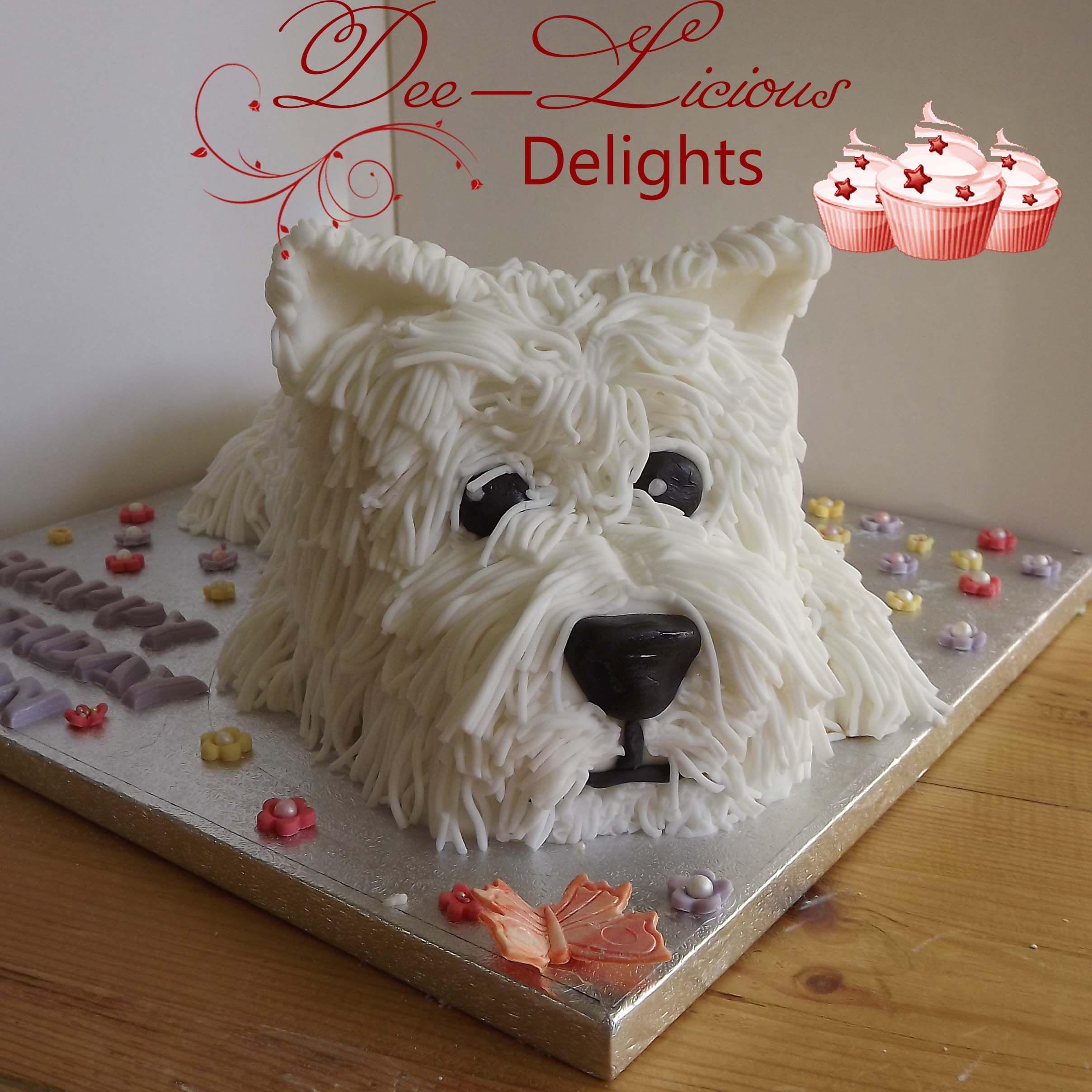 A cute little westie cake dog cakes little girl cakes