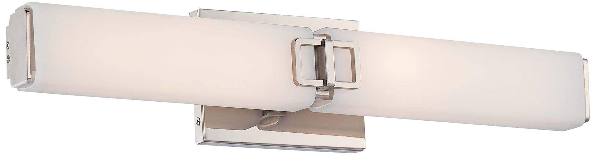 Photo of Quadrat 24 und eine halbe Zoll breite polierte Nickel 2 Licht LED-Bad Licht