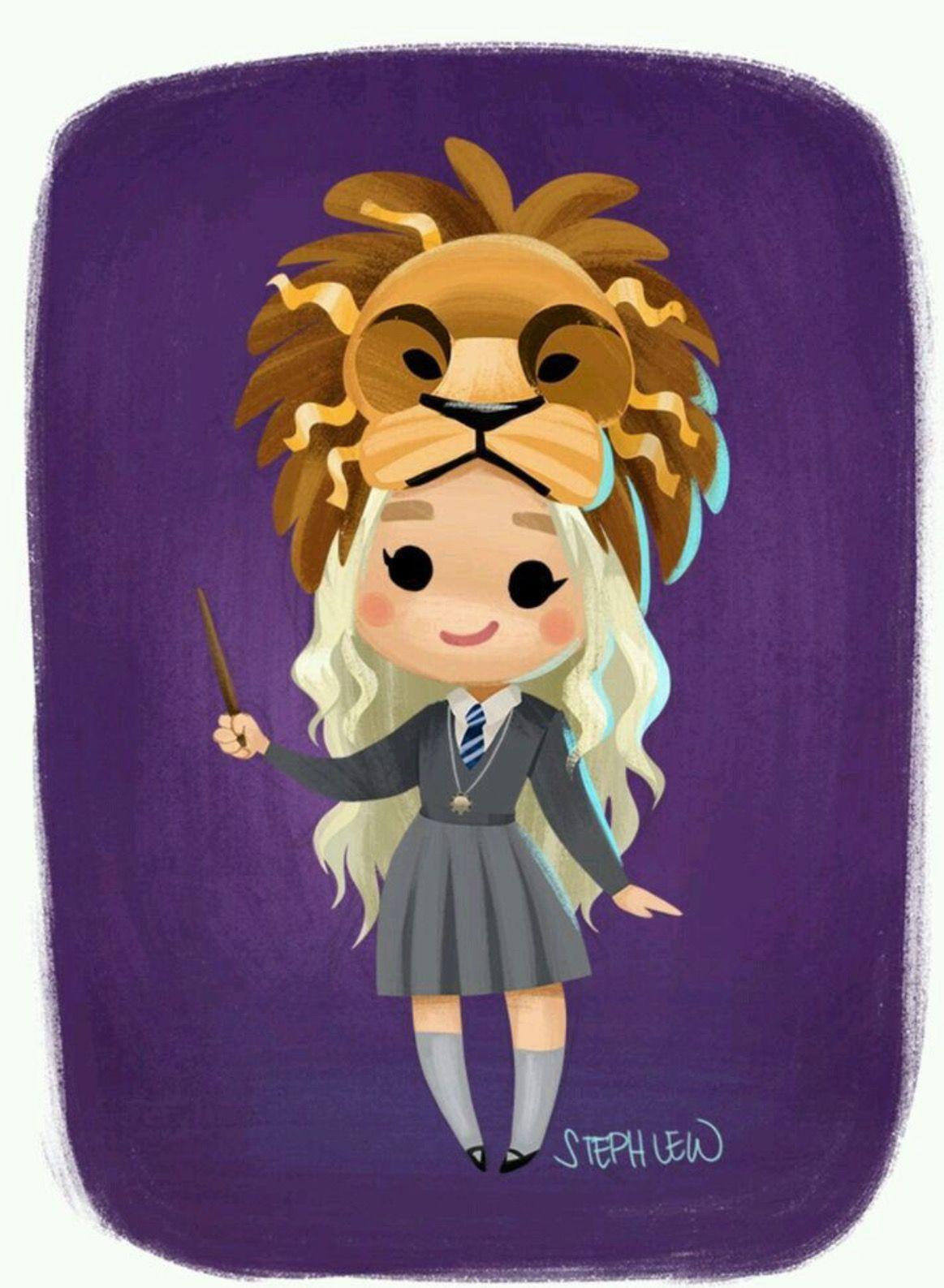 Luna Lovegood (Dibujo) | Harry Potter | Harry potter ...