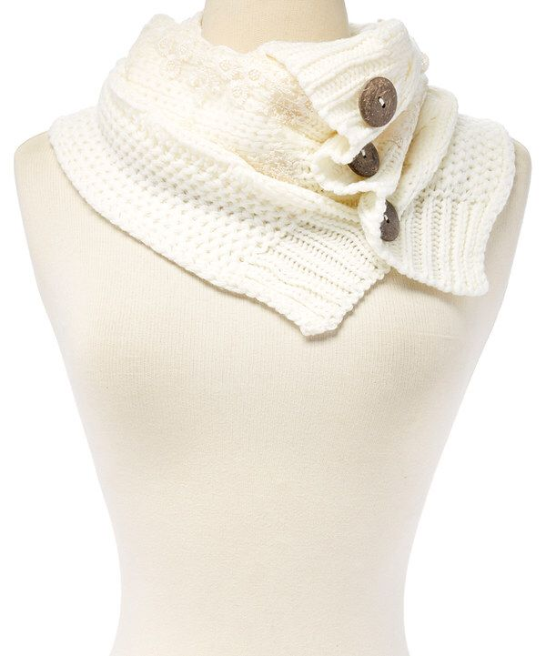 Look at this White Cable-Knit Infinity Scarf on #zulily today!