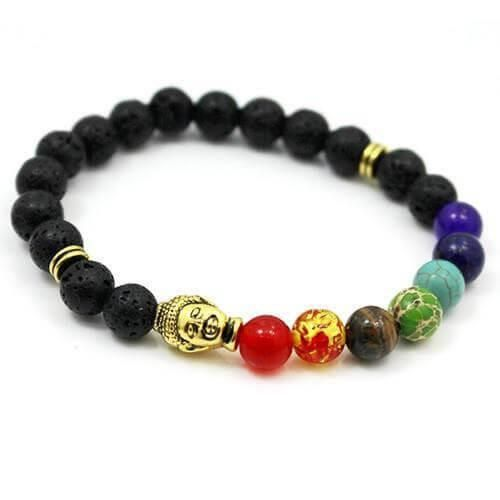 Buddha Chakra Bracelet! If you love meditating and yoga, this is perfect for you! Designed ti balance the 7 Chakras, promotes healing and vitality!
