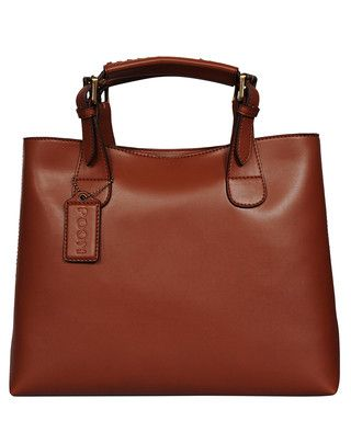 07c73d21fa4e Structured dark whisky leather tote Sale - Poon