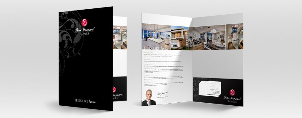 We Created These Beautiful Professional Folders With Business Card Holders For Standard Homes House Home Builders Advertising Marketing