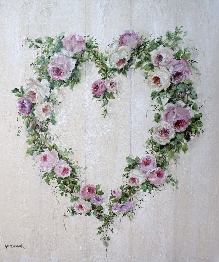 Rose heart wreath yaz fonlar 1 pinterest vorlagen druckvorlagen und malerei - Vorlagen malerei ...