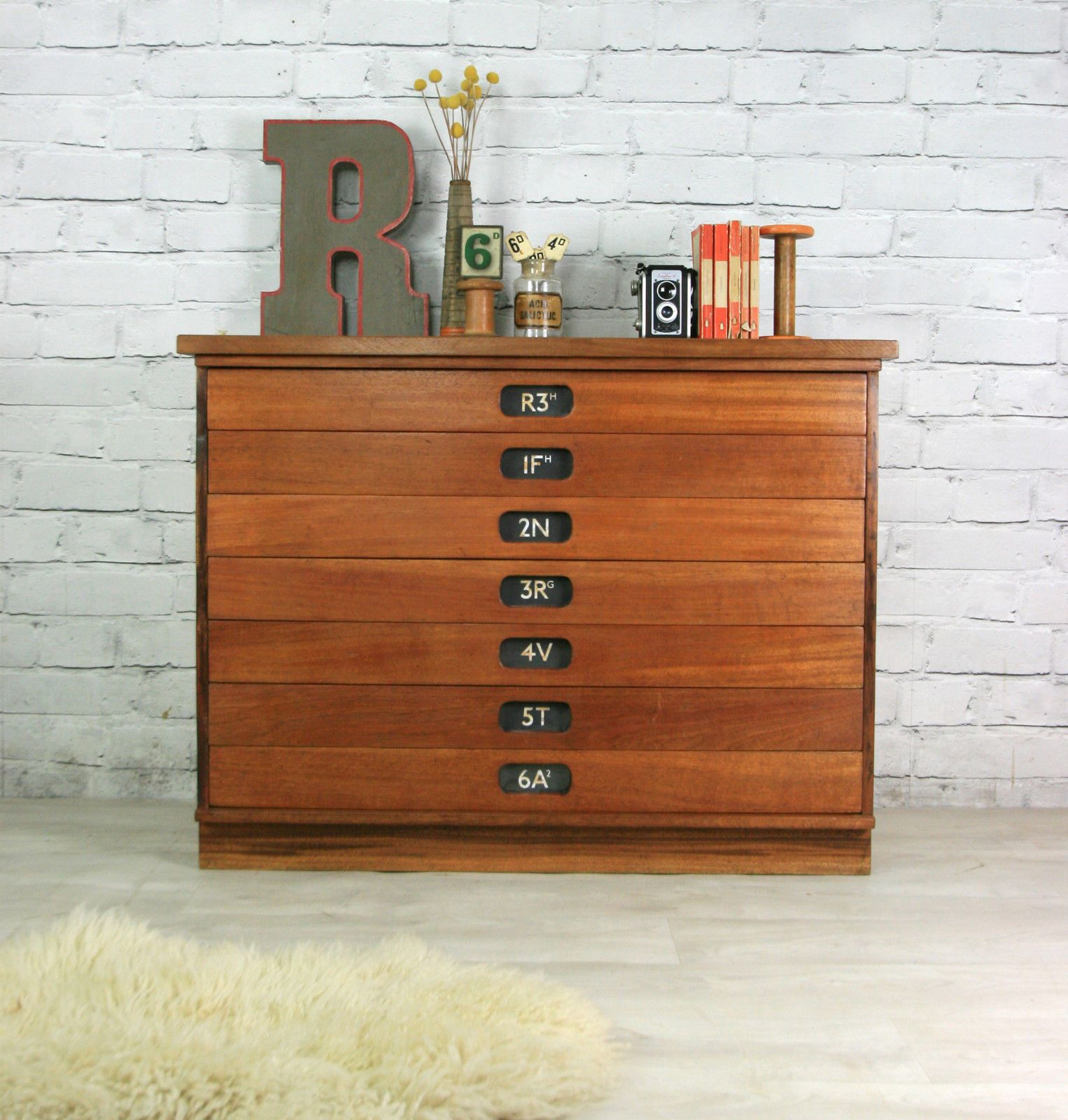 drawer listings beech chest architects retro map drawers vinterior industrial vintage plan
