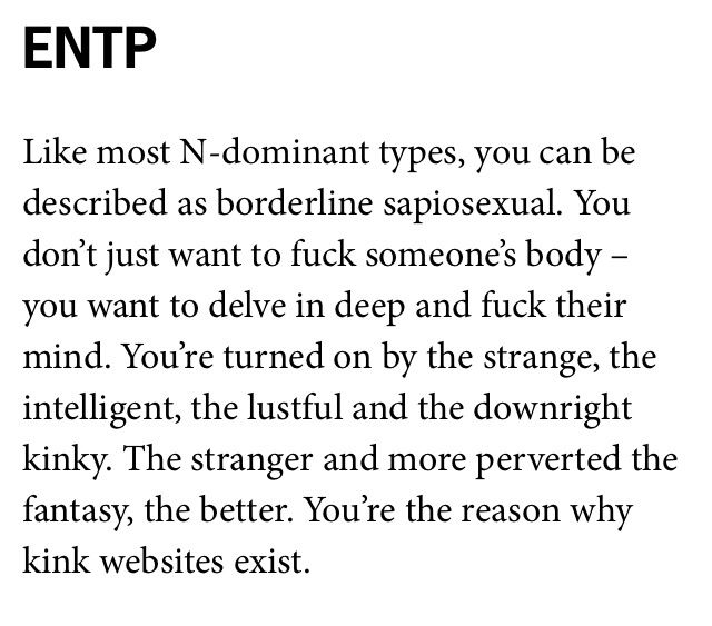 Entp infj sexuality