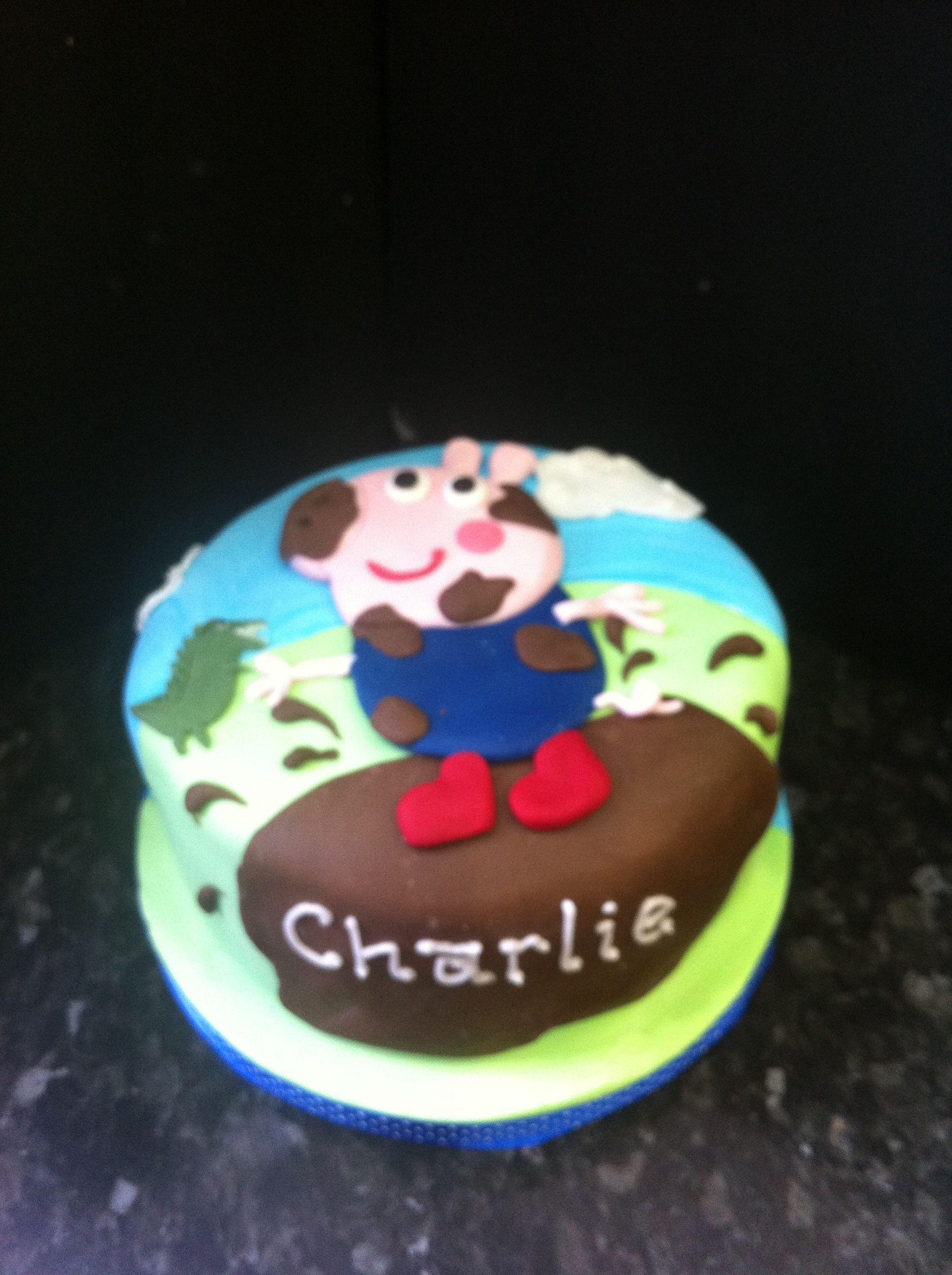 George peppa pig cake...love this