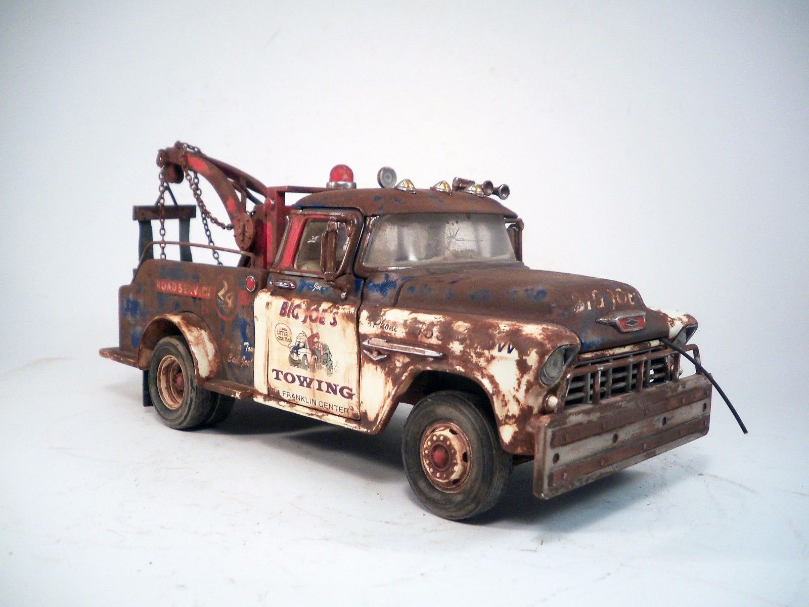 1955 Chevrolet Tow Truck Barn Find Wrecker Custom Weathered 1 24