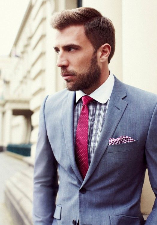 Red Tie & Blue Suit | Men's Style | Pinterest | Red ties, Colors ...
