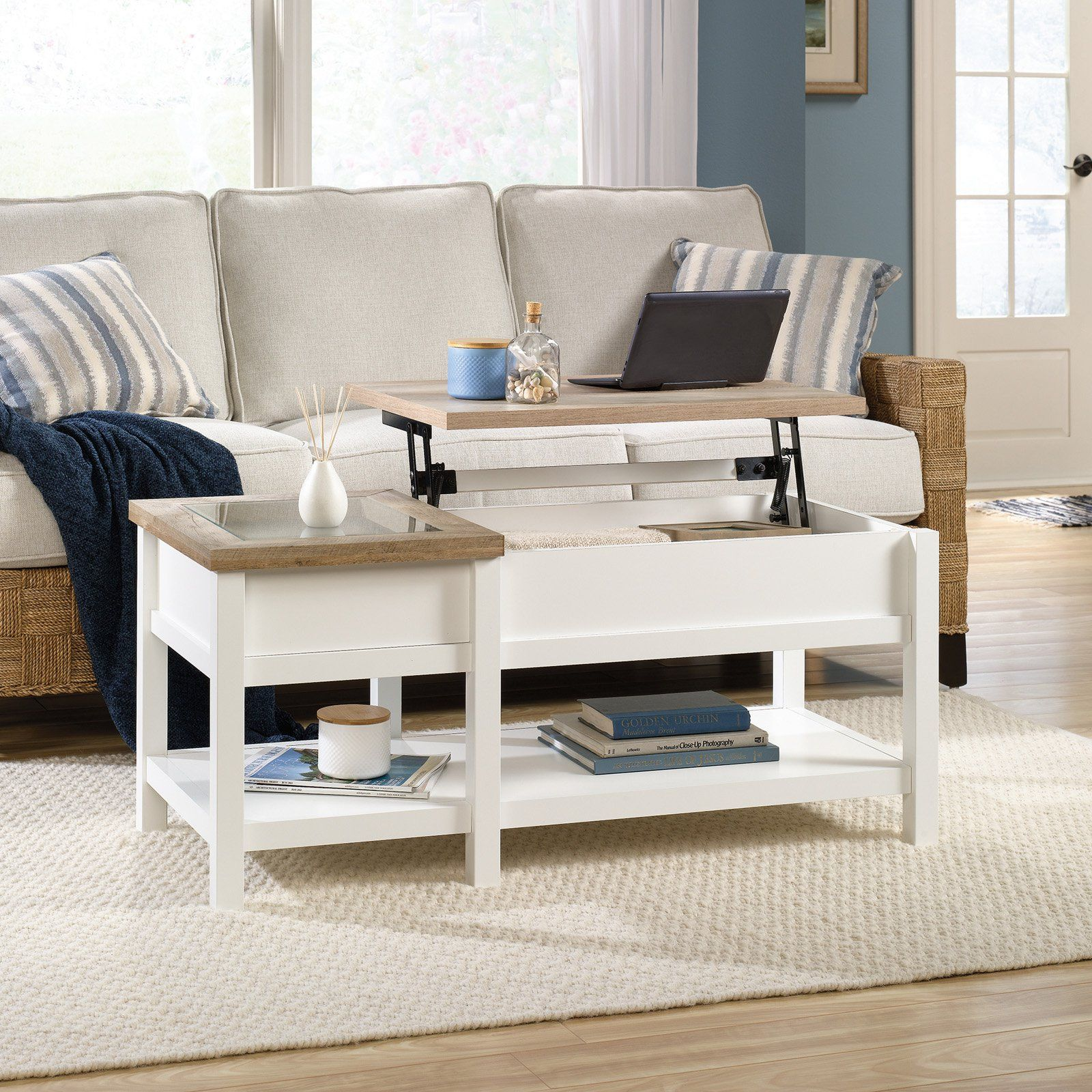 Sauder Cottage Road Lift Top Coffee Table In 2019 Lift Top