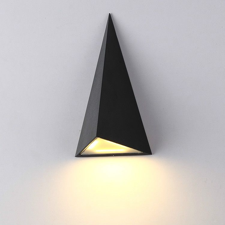 Modern Led Wall Lamp Outdoor Waterproof Outdoor Wall Lights Triangle Garden Lights Balcony Aisle Wall Lamp Ac85 256v Icon2 Luxury Designer Fixures Modern