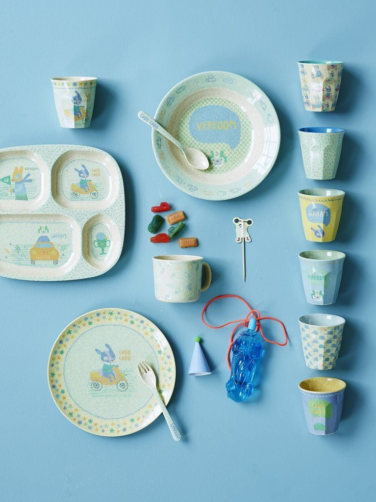 Pretty Kids Melamine Plates And Cups By Rice Dk At Www Pinksandgreen Co Uk Kids Tableware Kids Melamine Plates Kids Melamine