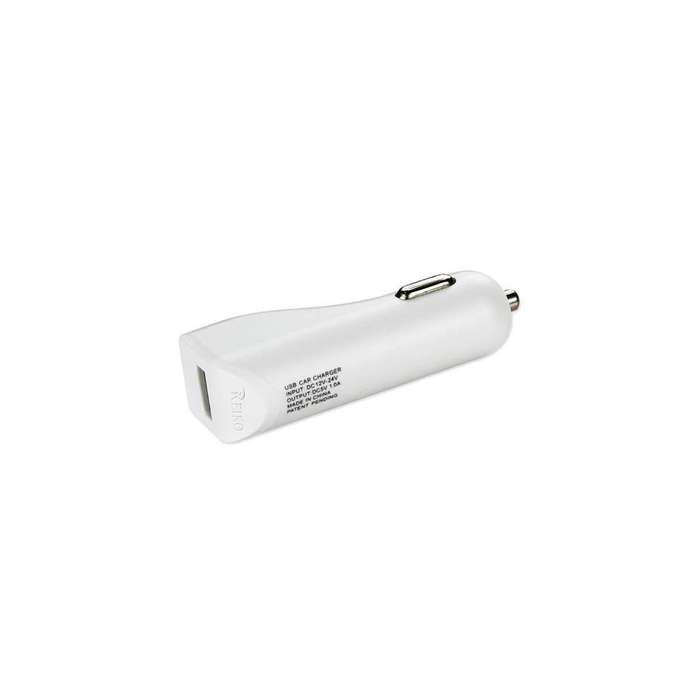Colored usb car charger - Reiko Reiko 1 Amp Dual Color Usb Car Charger In White