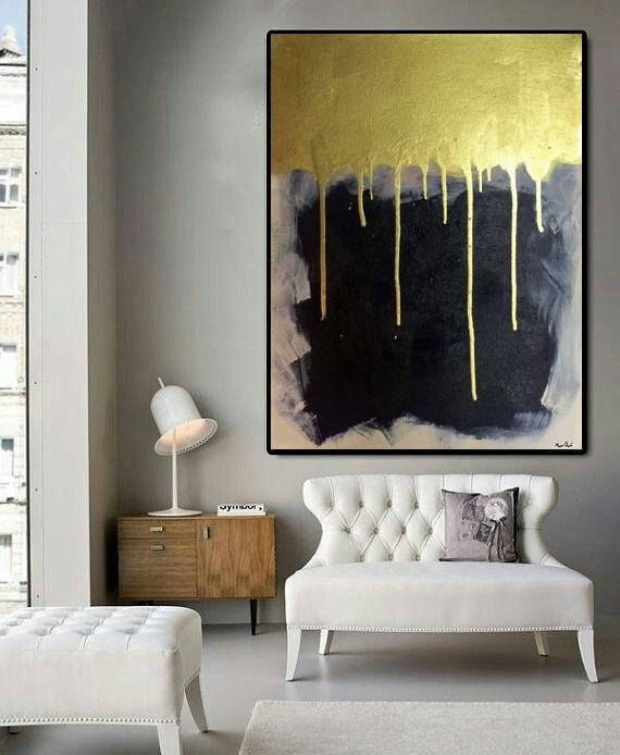 Abstract Painting On Canvas Large Wall Art Decor Gold Painting Etsy Contemporary Art Painting Abstract Contemporary Art Painting Abstract Painting #vertical #paintings #for #living #room