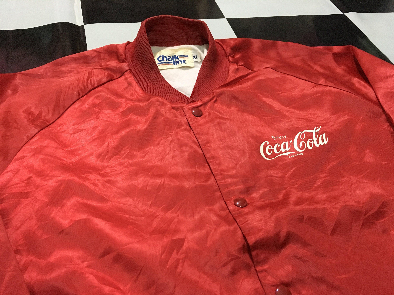 4fd49657a Vintage Coca cola jacket bomber satin jacket Enjoy coca cola spell ...
