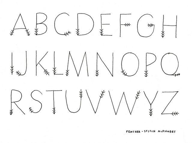 Cute Alphabet Letters Look Like Feathers On A Arrow Via Floresita