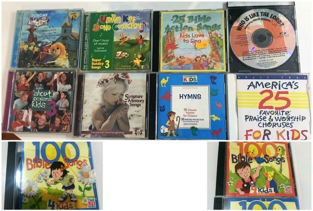 Childrens Bible Scripture Sunday School CD Lot 10 Sing-A