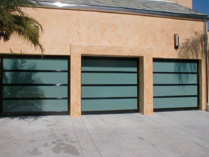Model Bp 450 Size 7 9 X 6 11 Frame Dark Brown Powder Coated Frame Glass 1 4 Laminate Glass Garage Door Contemporary Garage Doors Modern Garage Doors