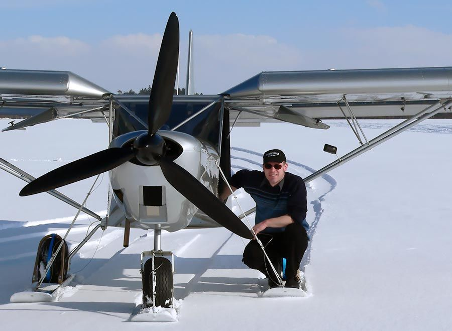 planes on skis | Flying the STOL CH 701 on skis: | Aircraft