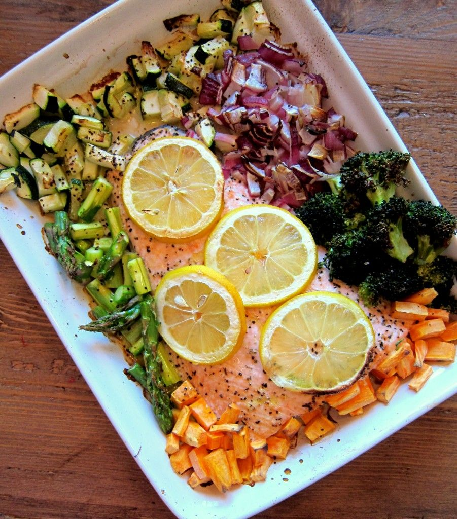 Salmon with Colourful Vegetables