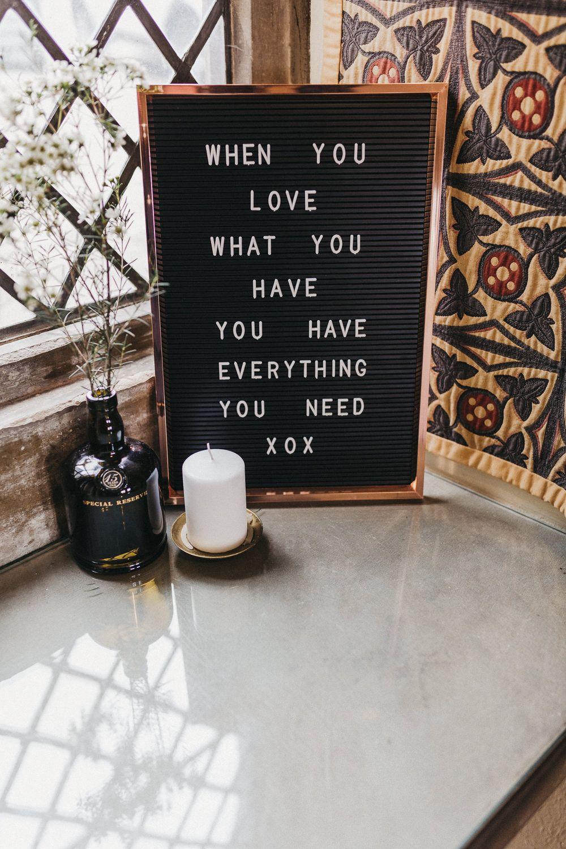 pin board sign rose gold frame bottle candle lympne castle wedding kev elkins photography