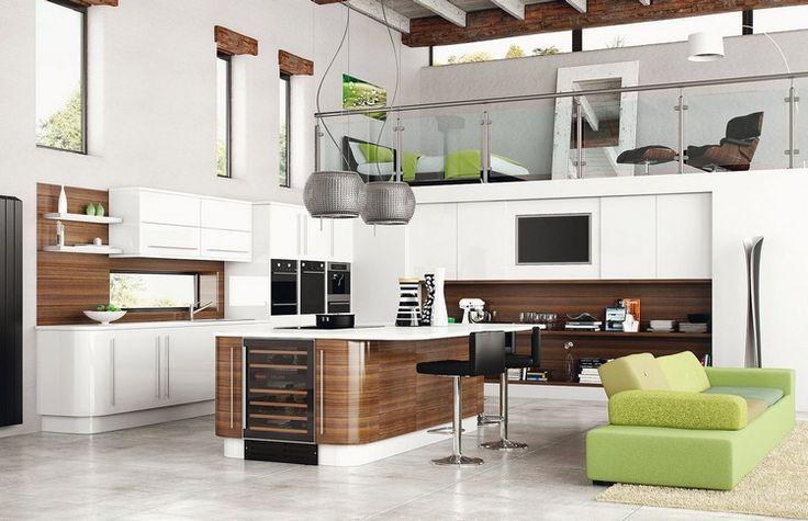 cool Idée relooking cuisine - modèle de cuisine moderne avec ...