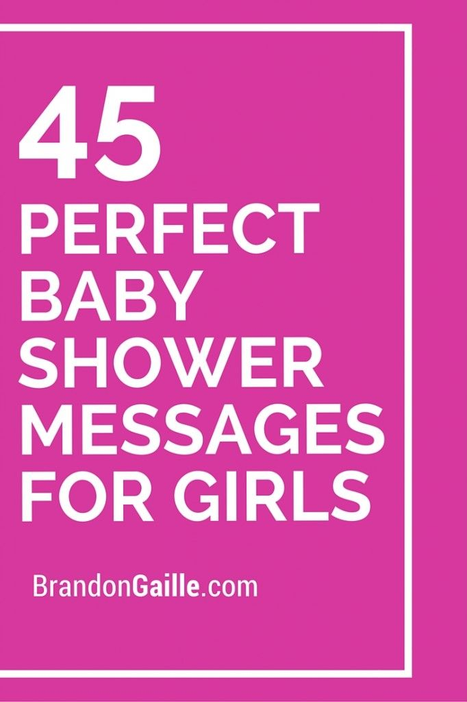 47 Perfect Baby Shower Messages for Girls | Messages and ...