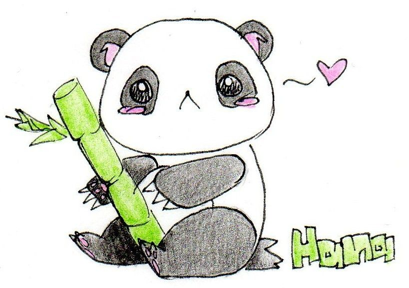 Learn How To Draw A Cute Panda Bear Cartoon Face Easy With