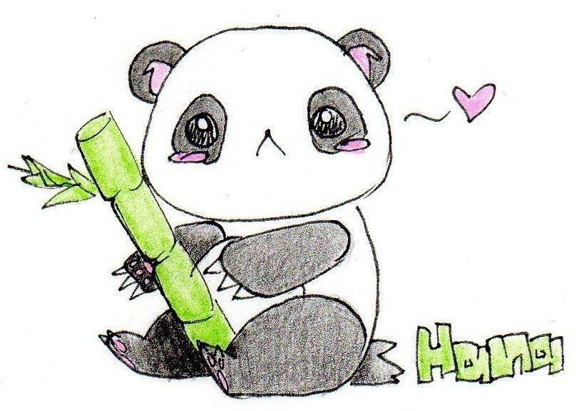 simple panda clipart - photo #45