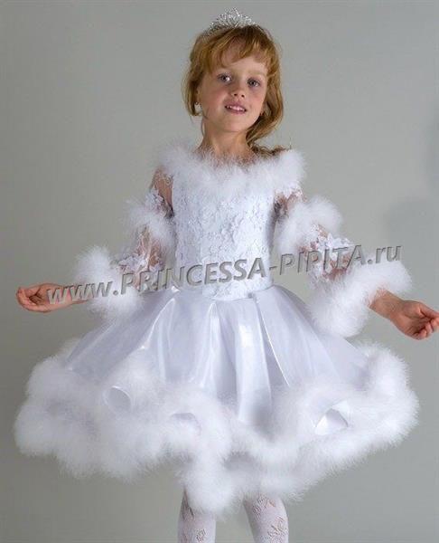 30c4275a4ef Детское праздничное платье снежинка