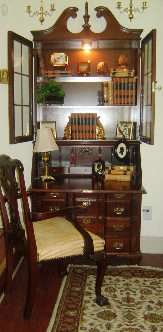 Jasper co. Mahogany Secretary for sale at discount preowned furniture sale website www.janicebuck.com