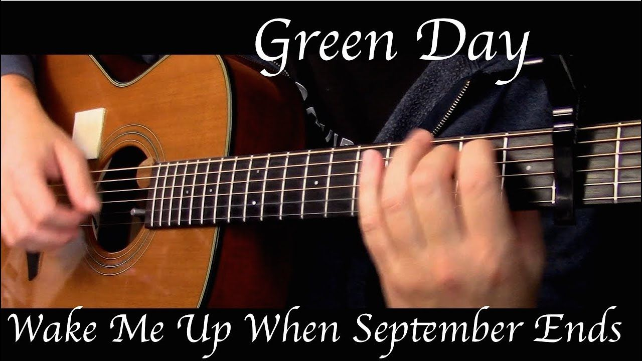 Green Day Wake Me Up When September Ends Fingerstyle Guitar