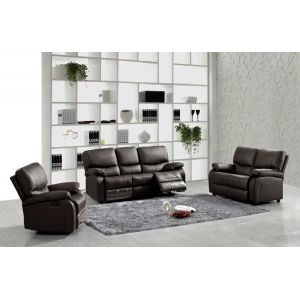 Ultra Leather Recliner Sofa Three Seater 2 Reclining Sofa
