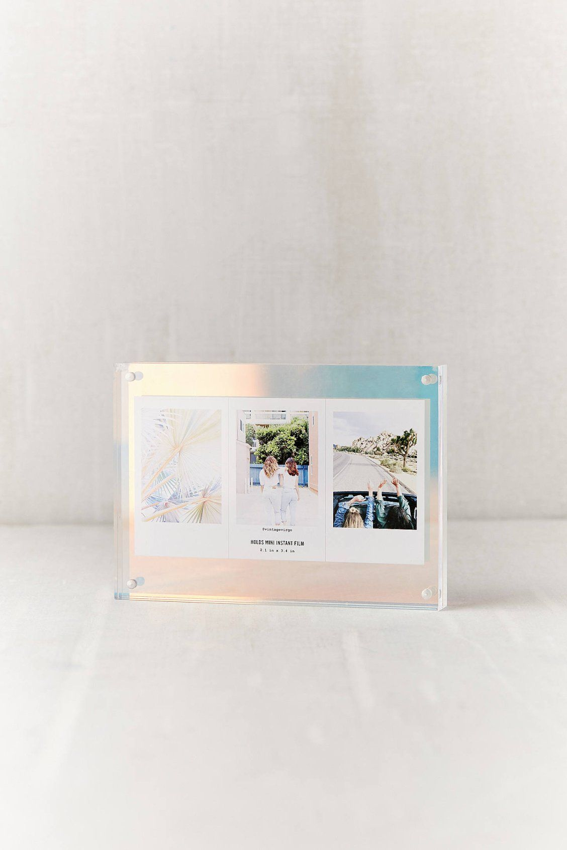 Iridescent Mod Block Frame Iridescent Decor Frame Glitter Picture Frames