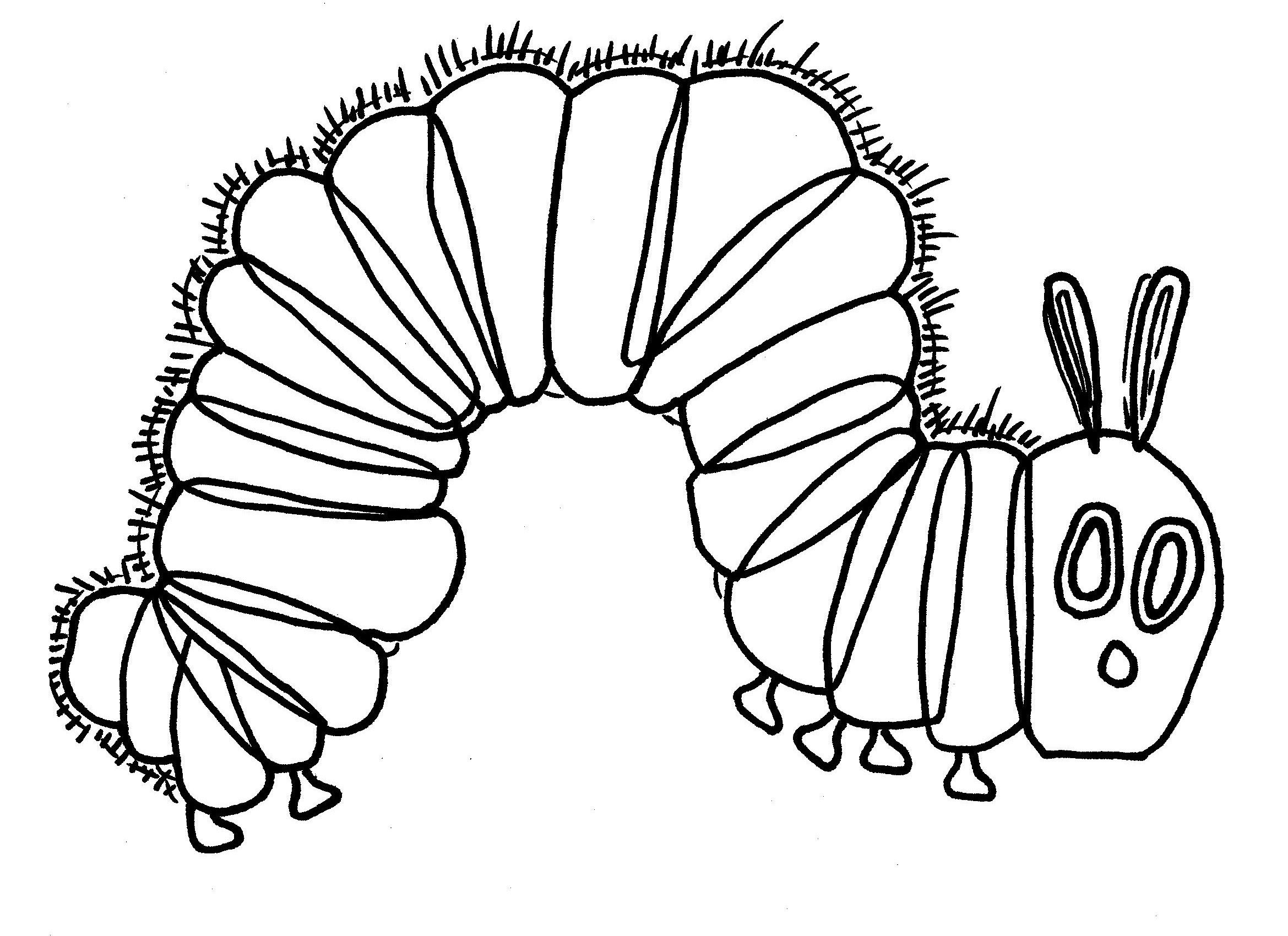 Hungry Caterpillar Art And Coloring Page