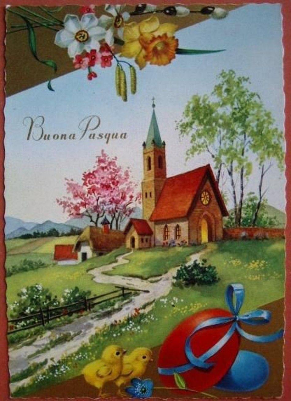 католическая пасха открытка италия такого