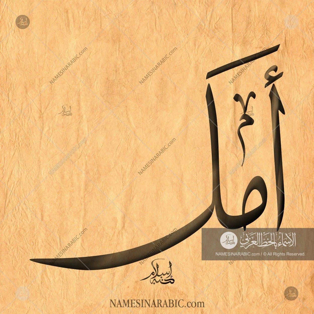 Amal Name In Arabic Calligraphy Arabic Calligraphy Design Calligraphy Arabic Calligraphy