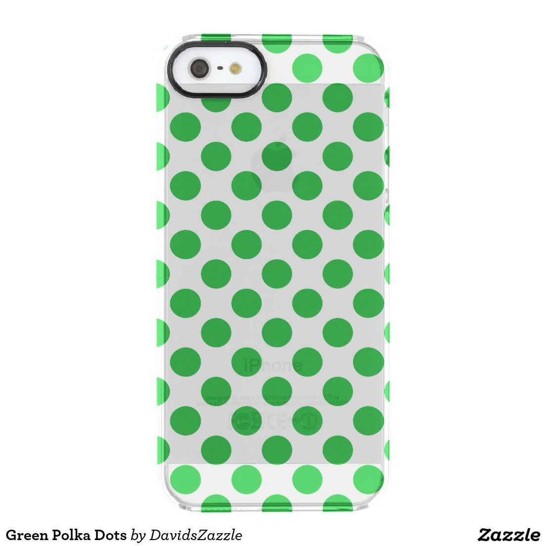 Green polka dots phone case available on many products
