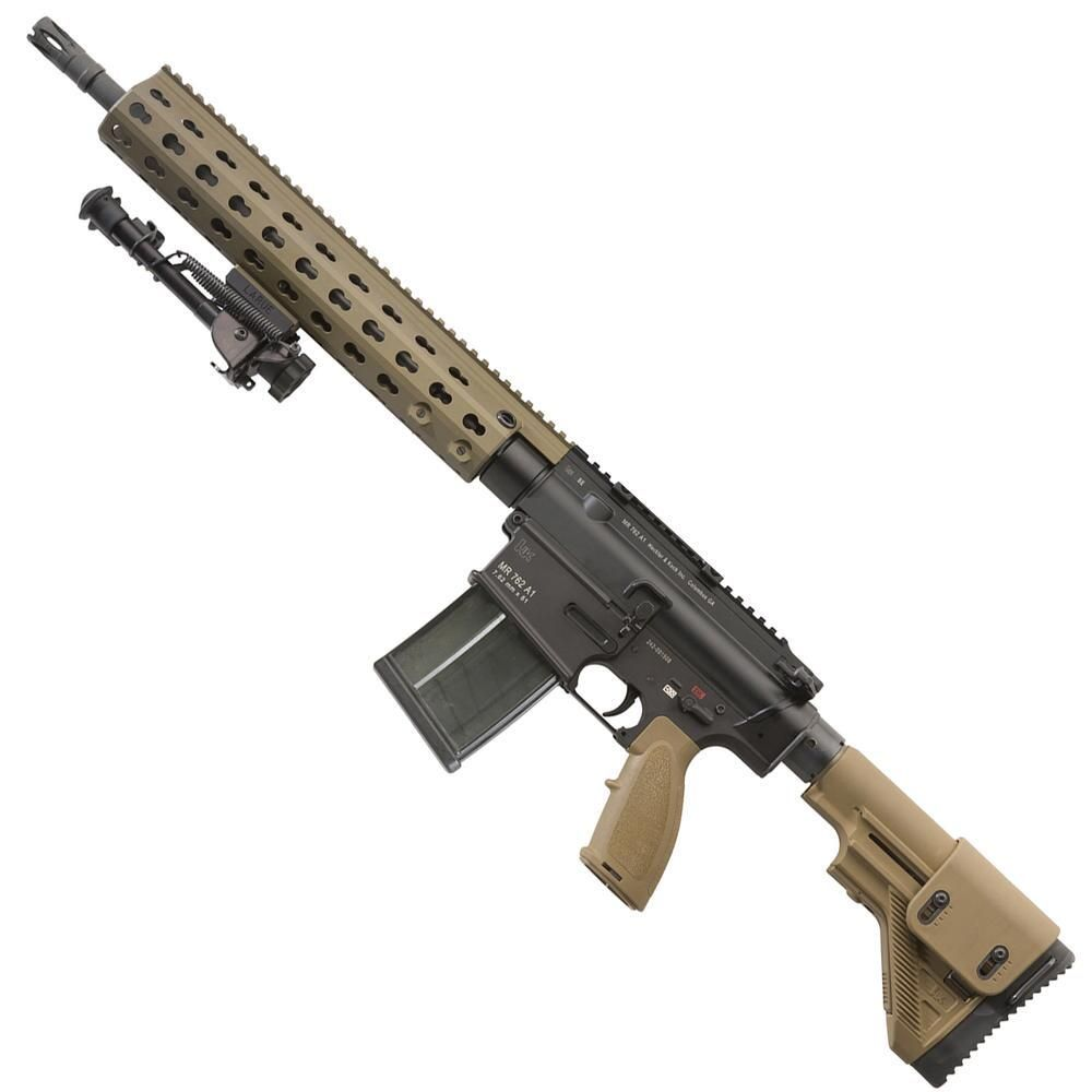 The Heckler & Koch MR762A1 Long Rifle Package II is the essential Battle Rifle/Designated Marksmanship Rifle package for the elite HK fan. This rifle is chambered in the popular .308 Winchester/7.62mm NATO cartridge and it comes with a slew of upgrades.