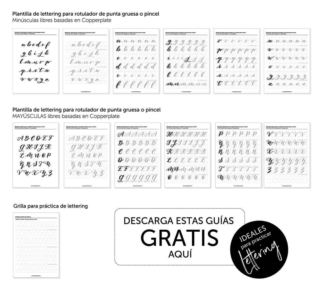 Plantillas Alfabeto Lettering Gratis Plantillas Lettering